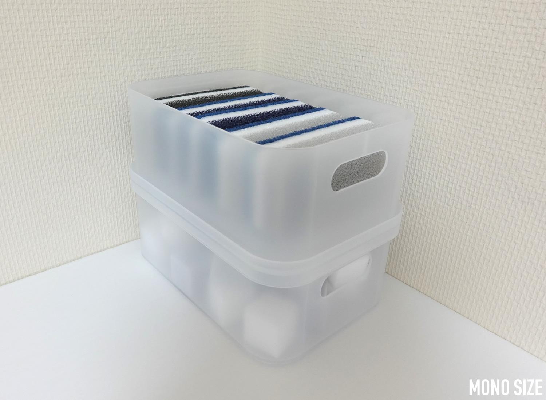 無印良品ポリプロピレンメイクボックス用フタ・Lの収納例写真